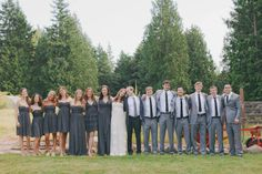 LOVE the bridesmaid and groomsmen attire. photos by yvonne wong