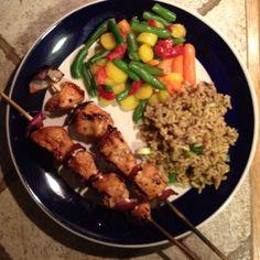 Turkey Teriyaki Kabob Dinner, 704 calories SpecialK meal plan