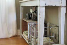DIY ikea tables into distressed vintage farmhouse look