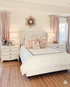Want to create a romantic bedroom? These romantic bedroom ideas are full of easy-to-recreate decorating tips and design ideas. Girl Bedroom Designs, Room Ideas Bedroom, Home Decor Bedroom, Modern Bedroom, Contemporary Bedroom, Serene Bedroom, Bedroom Neutral, Blush And Gold Bedroom, Master Bedrooms