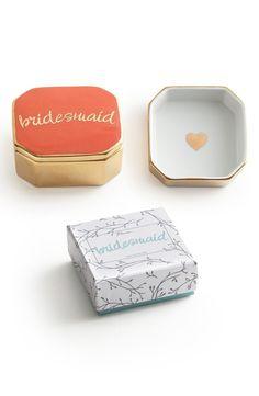 'Bridesmaid' Porcelain Trinket Box