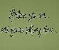 Believe You Can Wall Decals - Trading Phrases