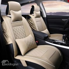 Ex Wind CN 2 Pack Universal Car Seat Cover black Luxury PU Leather Auto Front Driver Seat Cushion Ultra Comfortable Car Seat Protector