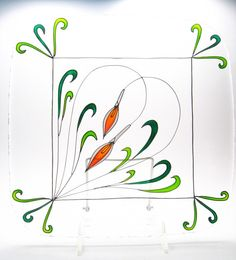 Items similar to Personalized Wedding Platter, Custom Wedding Plate, Calla Lilies on Etsy Fused Glass, Stained Glass, Wedding Plates, Square Plates, Glass Dishes, Calla Lily, Glass Design, Personalized Wedding, Simple Designs
