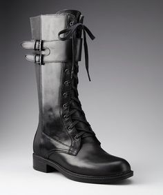 Loving this Black Leather Montana Boot on #zulily! #zulilyfinds