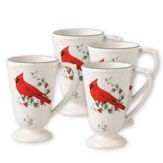 Mugs (Winterberry is my Christmas china pattern)