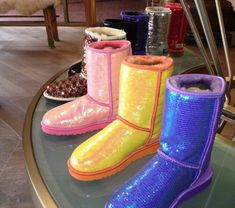 Neon Sequined Uggs. Wow!