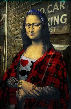 Grungy Mona
