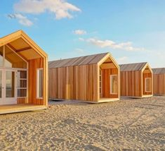 NEW dune houses Nieuwvliet - Beach Houses directly on the beach and sea. - NEW dune houses Nieuwvliet – Beach Houses directly on the beach and sea. Tiny Beach House, Tiny House Cabin, Beach Houses, Prefab Homes, Play Houses, Shed, Cottage, House Design, Camping Site