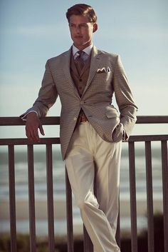 English style. Men Style. Beige  Sigh....