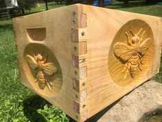 Bee Hive Kits, Bee Hive Plans, Bee House, Bee Creative, Bee Art, 10 Frame, Baby Shower, Cool Inventions, Bees Knees
