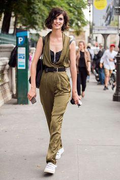 silky. #ManonLeloup #offduty in Paris.