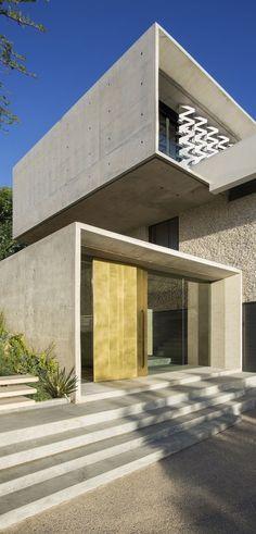 Architecture Beast: Concrete And Glass House: Modern City Villa by ARRCC | #modern #architecture #house #home #beautiful #contemporary #glass #concrete #facade #entrance #door #futuristic