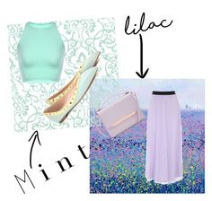 """Lilac n Mint Challenge "" by dhaunie ❤ liked on Polyvore featuring Valentino, Ted Baker, colorchallenge and lilacandmint"