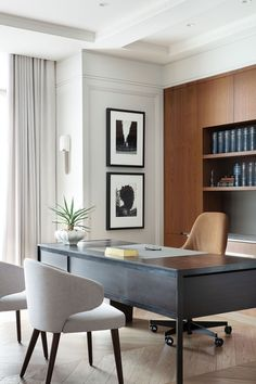 Modern Home Offices, Modern Office Design, Office Furniture Design, Contemporary Office, Contemporary Interior Design, Office Interior Design, Office Interiors, Interior Designing, Home Office Space