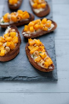 Roasted Pumpkin Hazelnut Crostini  –  Annie's Eats
