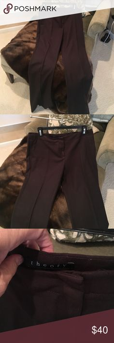 Theory dark brown wool slacks Theory dark brown slacks wool mint condition theory Pants Trousers