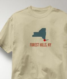 Cool Forest Hills New York NY Shirt from Greatcitees.com