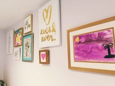 Gallery wall for your tween