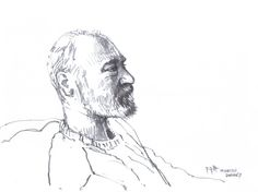 #sketchjanuary #thedailysketch Quick pencil sketch of my friend David this afternoon. :}>