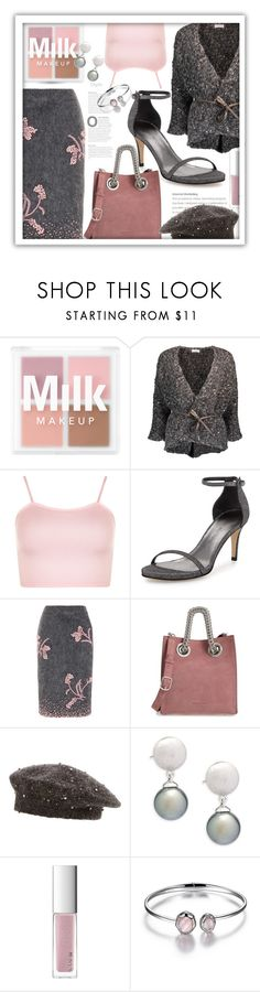 """Winter Floral Skirt"" by queenofsienna ❤ liked on Polyvore featuring Brunello Cucinelli, WearAll, Stuart Weitzman, Prada, Alexander Wang, Tara and RMK"