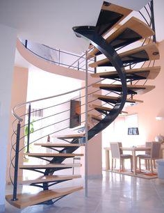 Best Wide Modern Spiral Staircase Really Modern Spiral 400 x 300