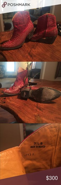 Old Gringo ankle boots, 7.5 Gorgeous oxblood red color- worn 3x but just a bit too tight- I'm normally a size 8 Old Gringo Shoes Ankle Boots & Booties