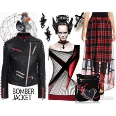How To Wear Gothic Bomber Jacket Outfit Idea 2017 - Fashion Trends Ready To Wear For Plus Size, Curvy Women Over 20, 30, 40, 50