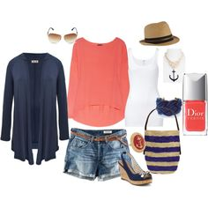 Spring time beach outfit.