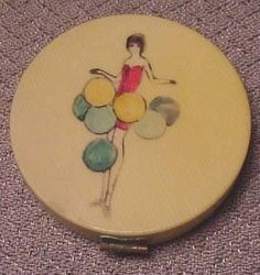 Antique Art Deco Celluloid Flapper Girl Compact (08/02/2007)