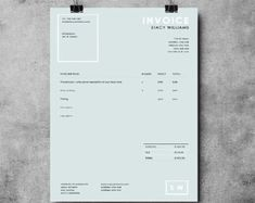 Invoice Template Invoice Design Receipt MS by EmandCoDesign
