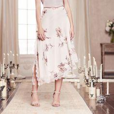 LC Lauren Conrad Runway Collection Asymmetrical Floral Skirt - Women's