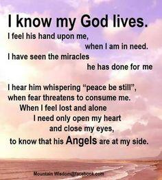 I know my God lives!