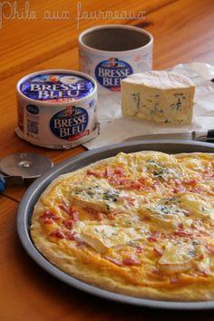 Pizza au potiron & au Bresse Bleu