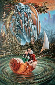 # 33 Portrait of Ellen and Scott x oil on canvas, 2013 Michael CHEVAL Magritte, Wassily Kandinsky, Magic Realism, Surrealism Painting, Michel, Art Plastique, Surreal Art, Large Art, Great Artists