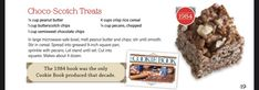 Square Pan, Butterscotch Chips, Dog Food Recipes, Crisp, Peanut Butter, Cookie, Treats, Biscuit, Biscotti