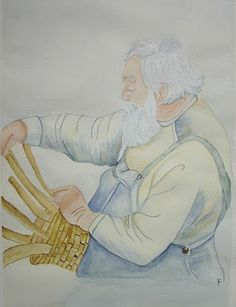 The Basket Maker - painted in class