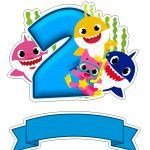 Top of Paper Cake to Print Several Free Templates 2nd Birthday Party Themes, Girl 2nd Birthday, 2 Baby, Baby Kit, Baby Shark Doo Doo, Sharks For Kids, Shark Cake, Shark Party, Free Baby Stuff