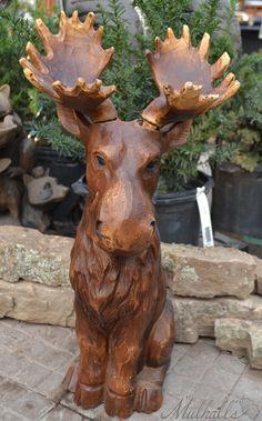 Moose Statue.