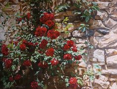 """""""Roses"""" Canvas, oil. 60x80 sm."""