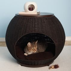 Igloo Cat Bed Deluxe from The Refined Feline