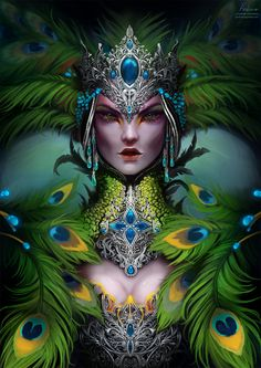 ArtStation - The Queen of Birds, Nath. Batemann