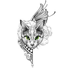 A fancy cat. #jonpall #ltwtattoo #icelandtattoo #cat #cattattoo #neotrad #neotraditional #neotraditionalcat