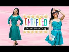 "▶ Thrifted Transformations | Ep. 3: ""Pretty In...Turquoise"" - YouTube"