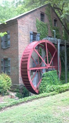 """Aderholdt Mill, Jacksonville, AL One of the first grist mills in Alabama,  Aderholdt's Mill, located on Tallaseehatchee Creek, opened in 1836.  Owned and operated by James """"Uncle Jim' Aderholdt."""
