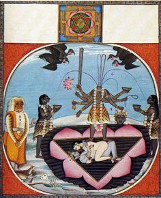 Chinnamasta Devi stood atop Kama & Rati.