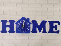 Wall clock HOME from acryl thick, Folina brand. Clock, Wall, Home Decor, Watch, Decoration Home, Room Decor, Clocks, Walls, Home Interior Design