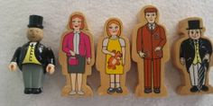Brio Thomas Train Wood Family LOT of 5 Wooden People Figures Dad Mom Girl TopHam