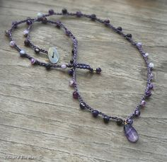 Amethyst and Purple Striped Agate by JonaraBluMauiJewelry on Etsy, $36.00