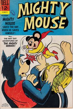 Mighty Mouse 1966 Dell 171  November 1967   Dell by ViewObscura, $4.00